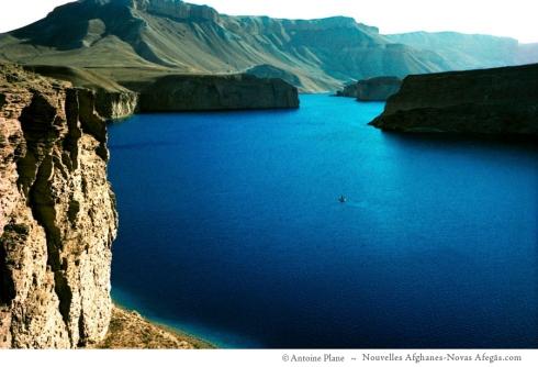 Band-e Amir, en el bote