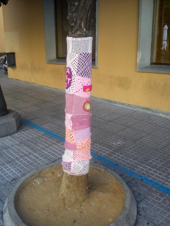 Yarn Bombing Sevilla Plaza