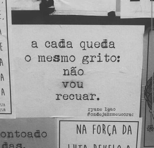 @ondejazzmeucoracao50k seguidores. La artista brasileña Ryane Leão, se redefine como escritora, feminista negra y artista callejera. Todos sus escritos son autorales